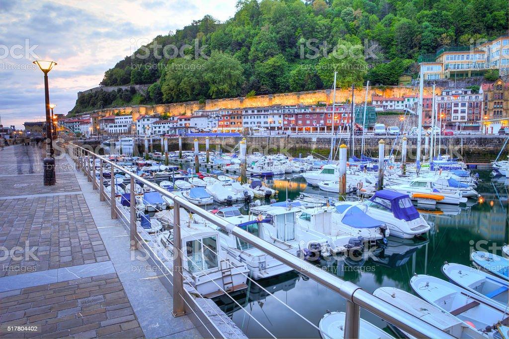 Old San Sebastian Fishing Port stock photo