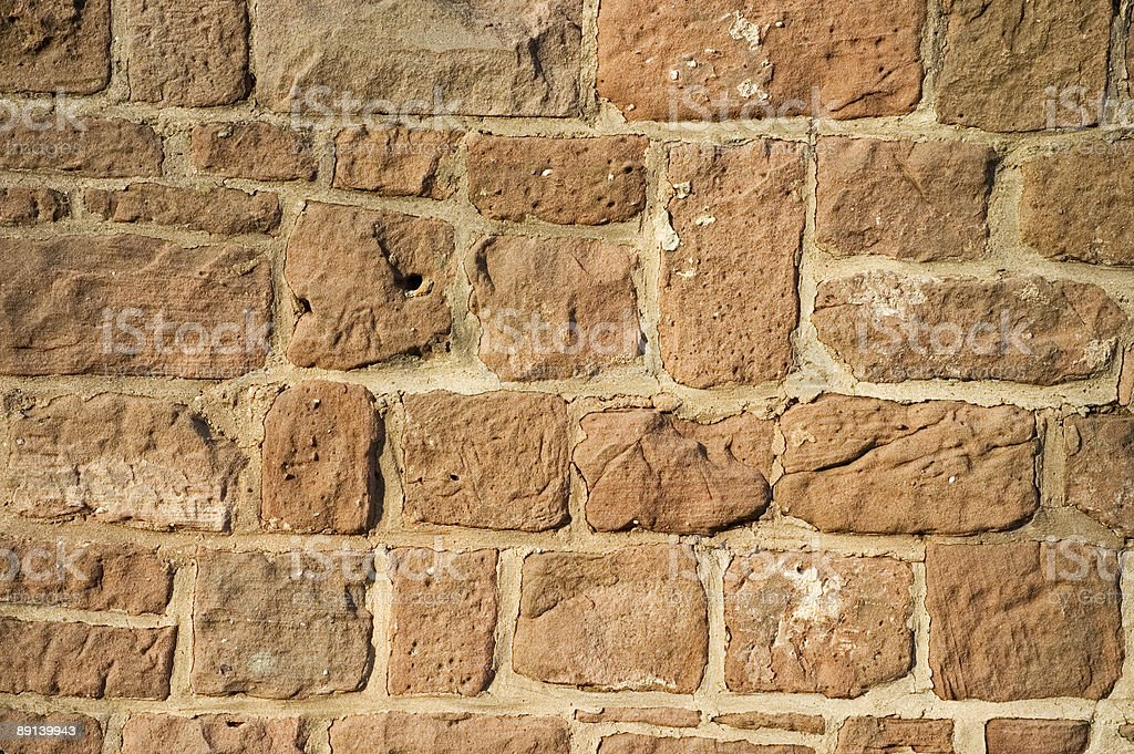 Old sandstone wall royalty-free stock photo