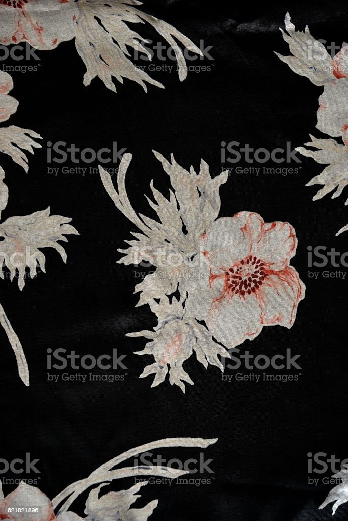 Old satin fabric stock photo