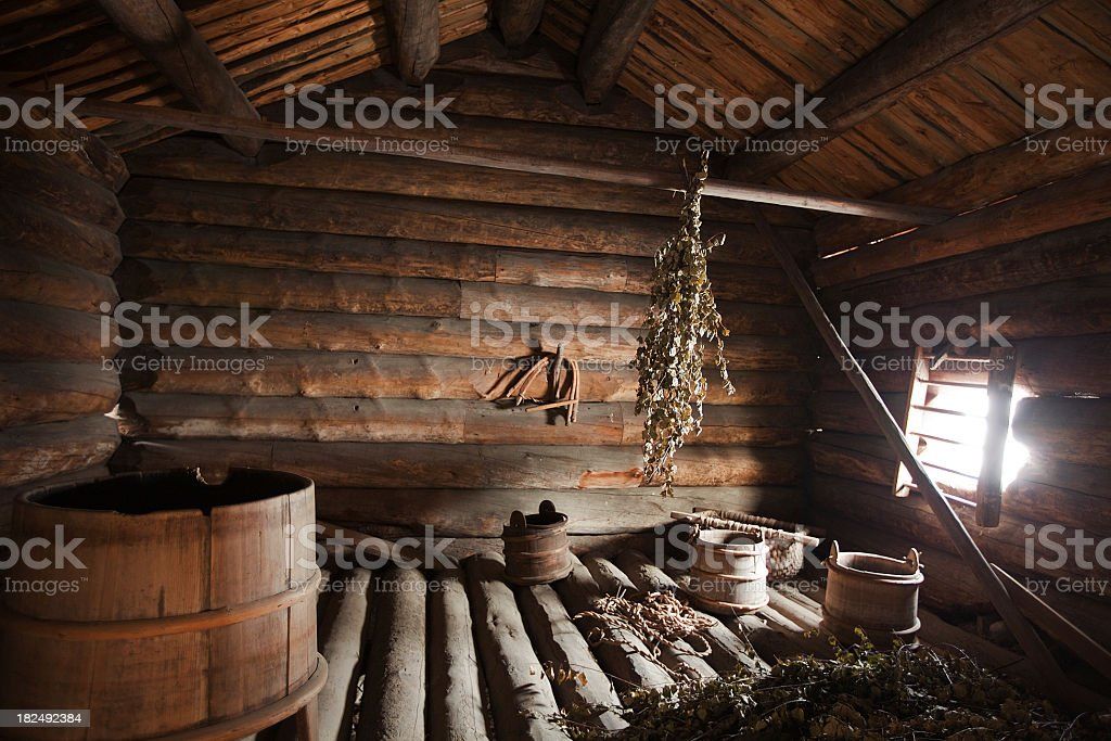 old sauna royalty-free stock photo