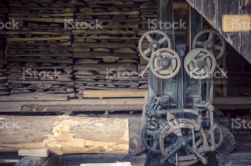old sawmill royalty-free stock photo