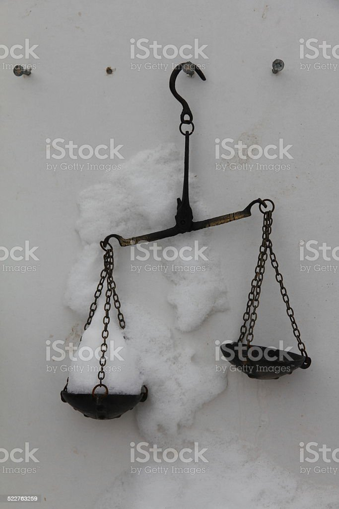 Old scale stock photo