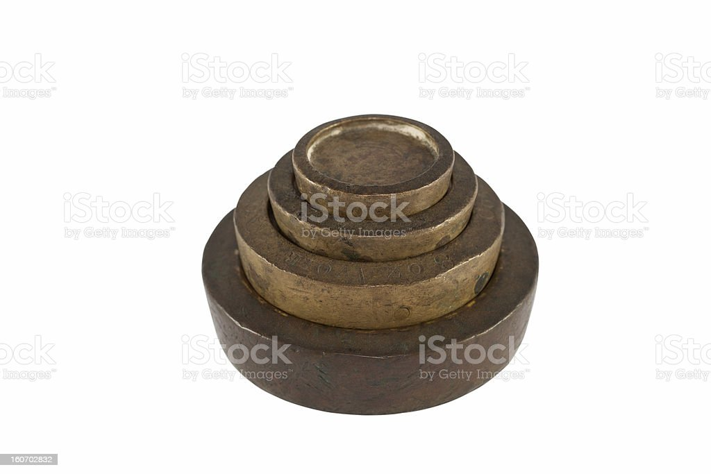Old Scale Weights royalty-free stock photo