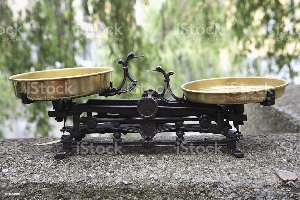 Old scales royalty-free stock photo
