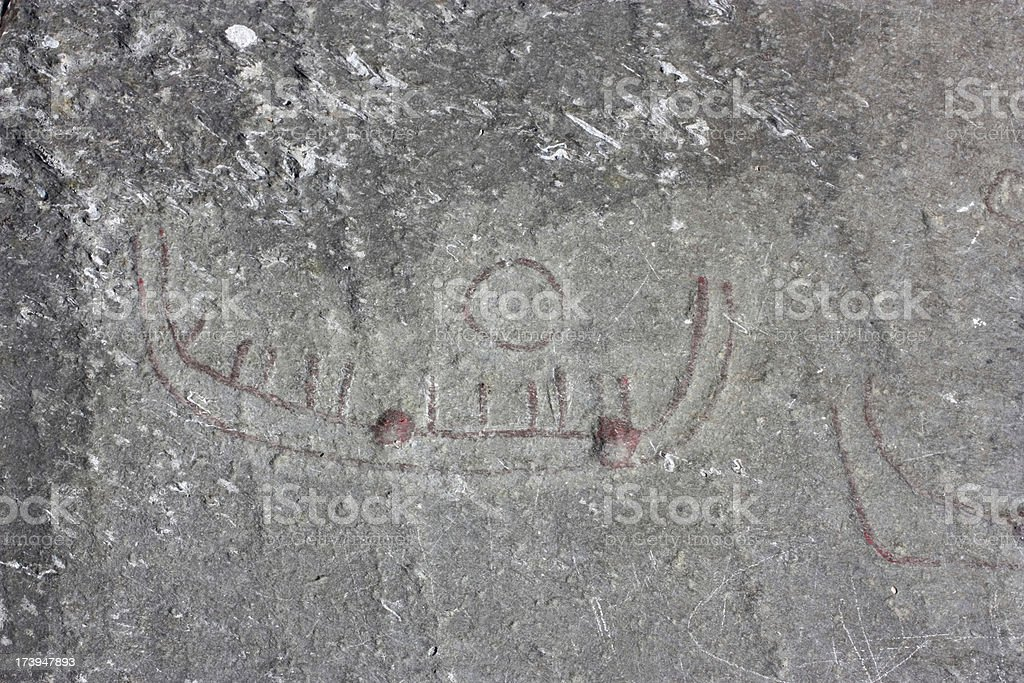 Old Scandinavian Viking Stone Carvings royalty-free stock photo