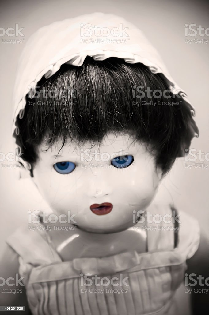 Old Scary Doll stock photo