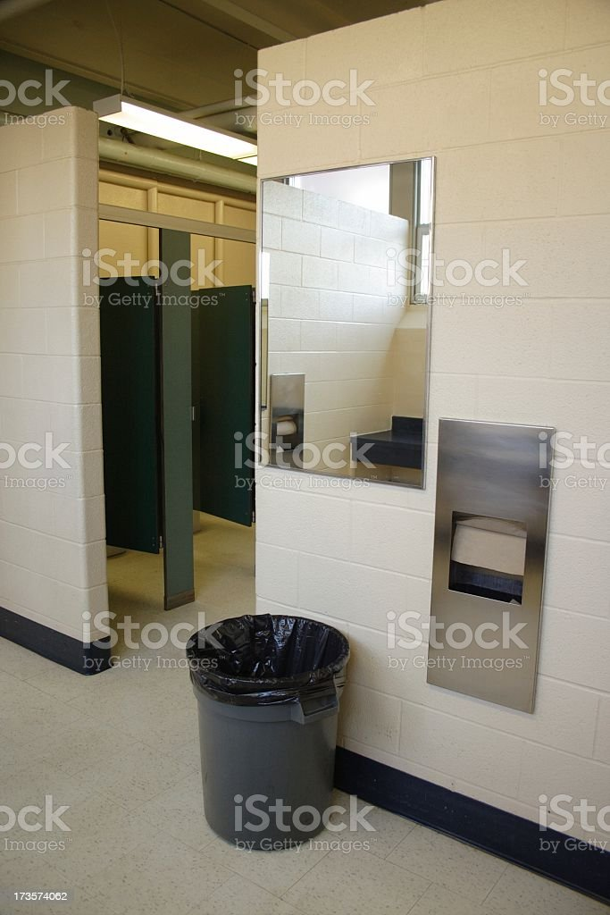 Old School Bathroom 2 royalty-free stock photo