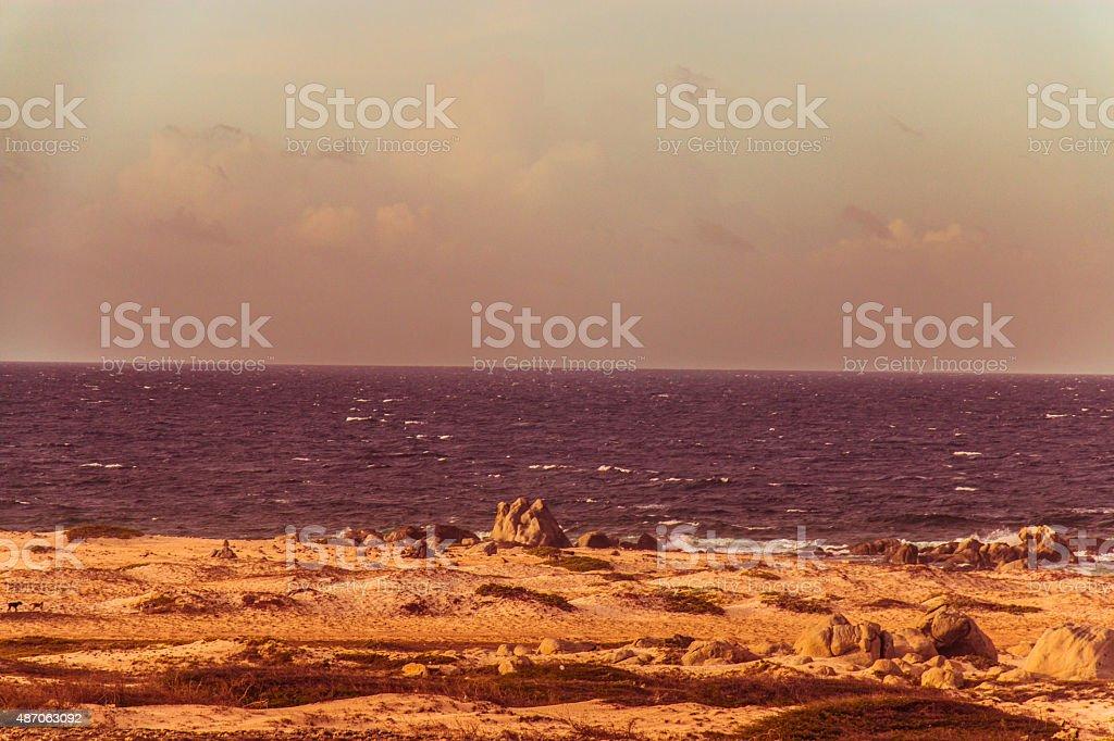 Old school Beach photo stock photo