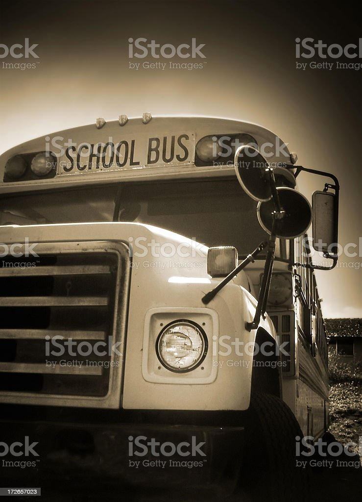 Old School Bus stock photo