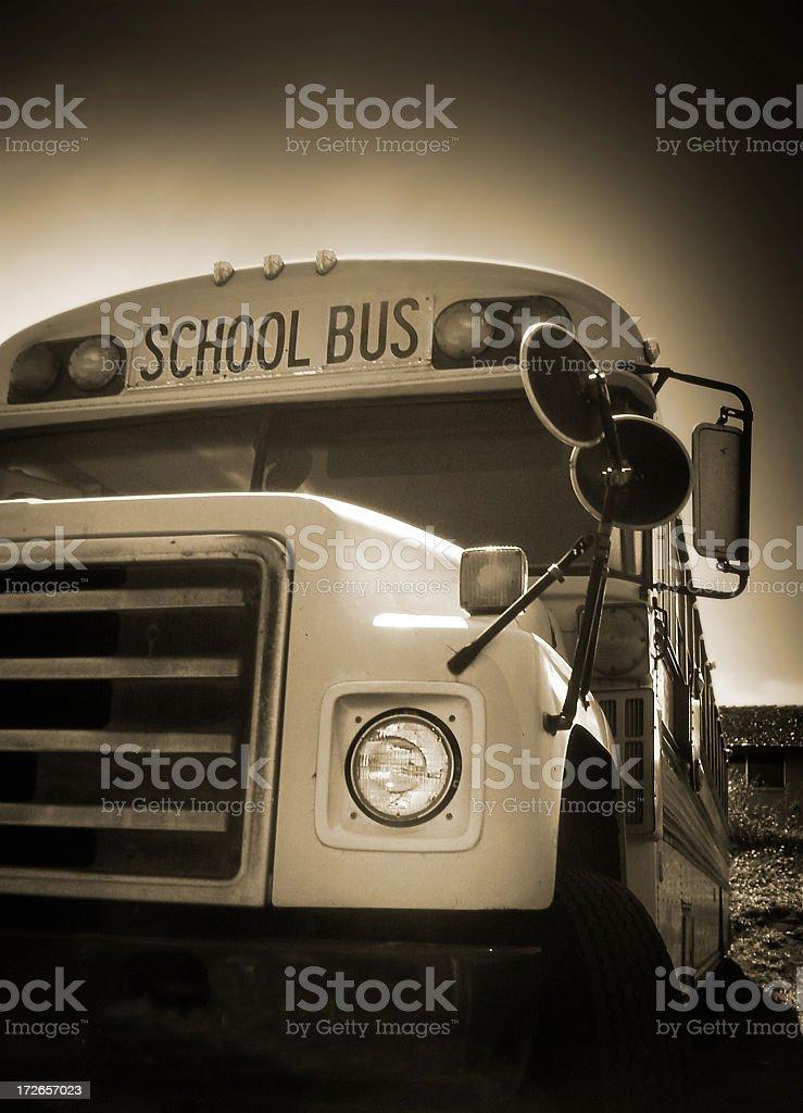Old School Bus stock photo
