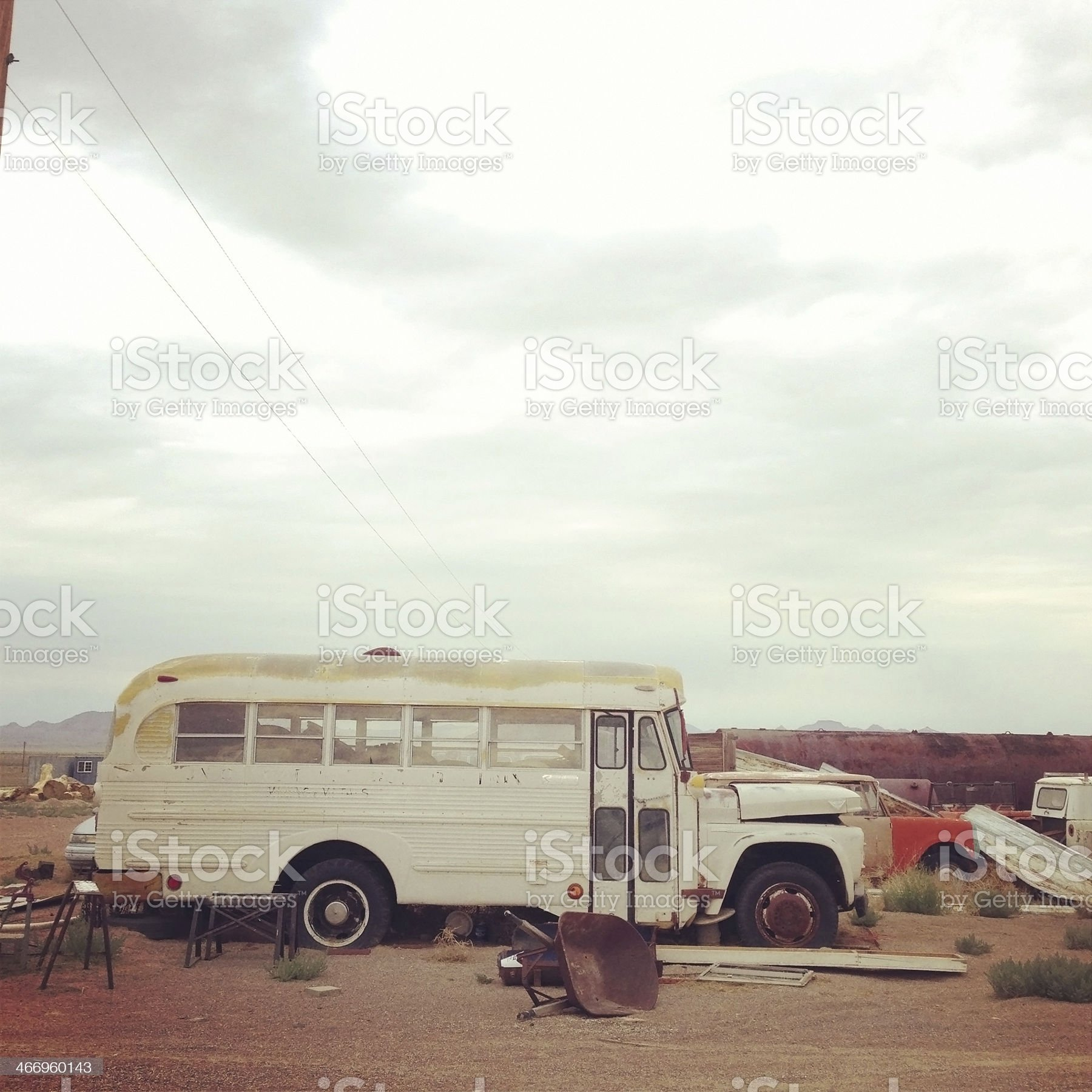 Old School Bus royalty-free stock photo