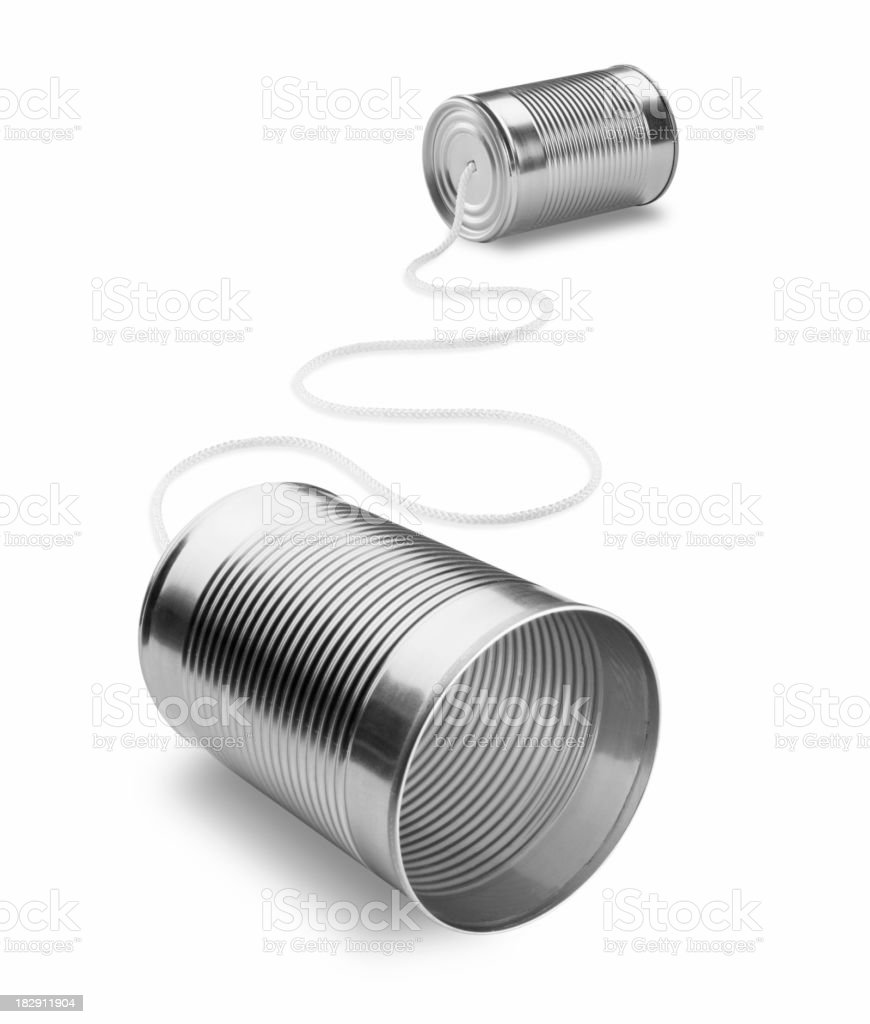 Old school can communication before the telephone invention royalty-free stock photo