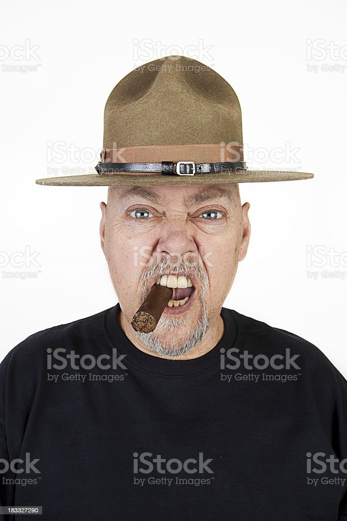 Old School Drill Sergeant royalty-free stock photo