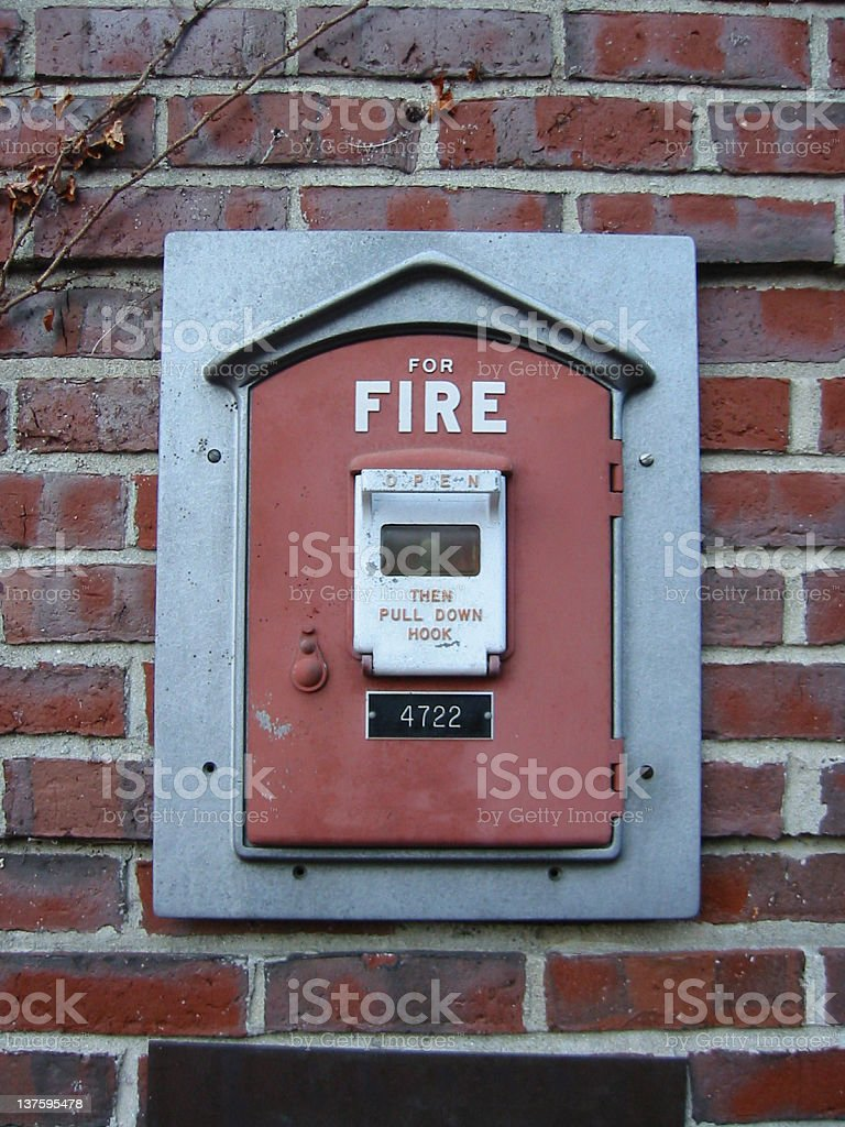 Old School Alarme incendie photo libre de droits