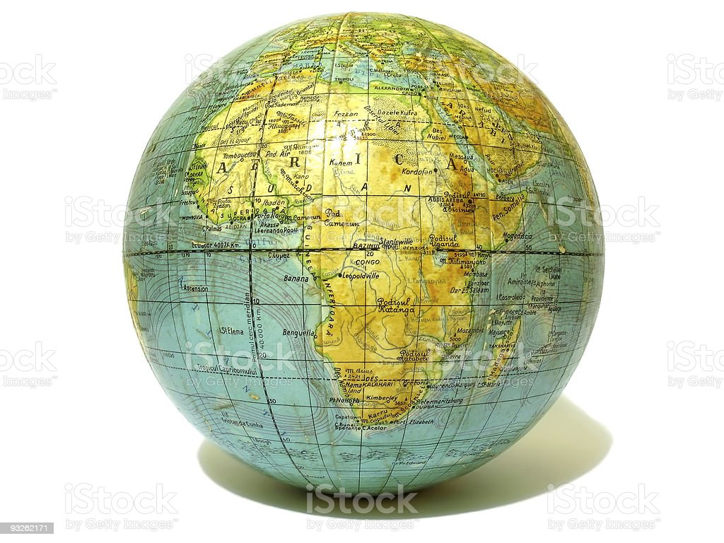 Old school globo isolado sobre fundo branco foto de stock royalty-free