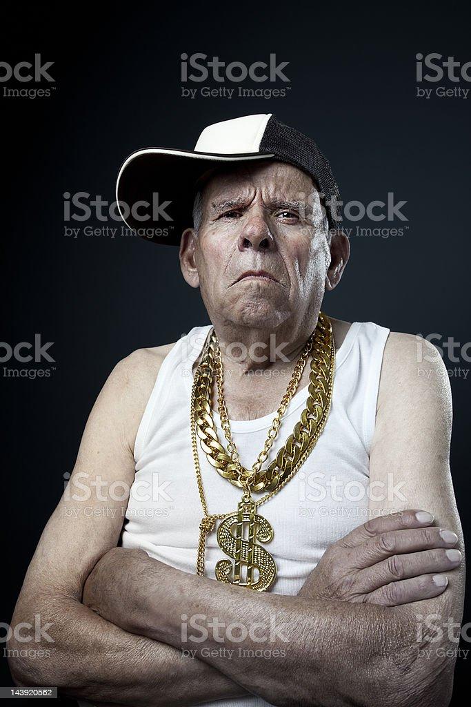 Old School grandfather stock photo