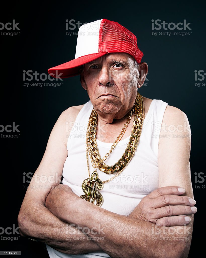 Old School grandfather stock photo