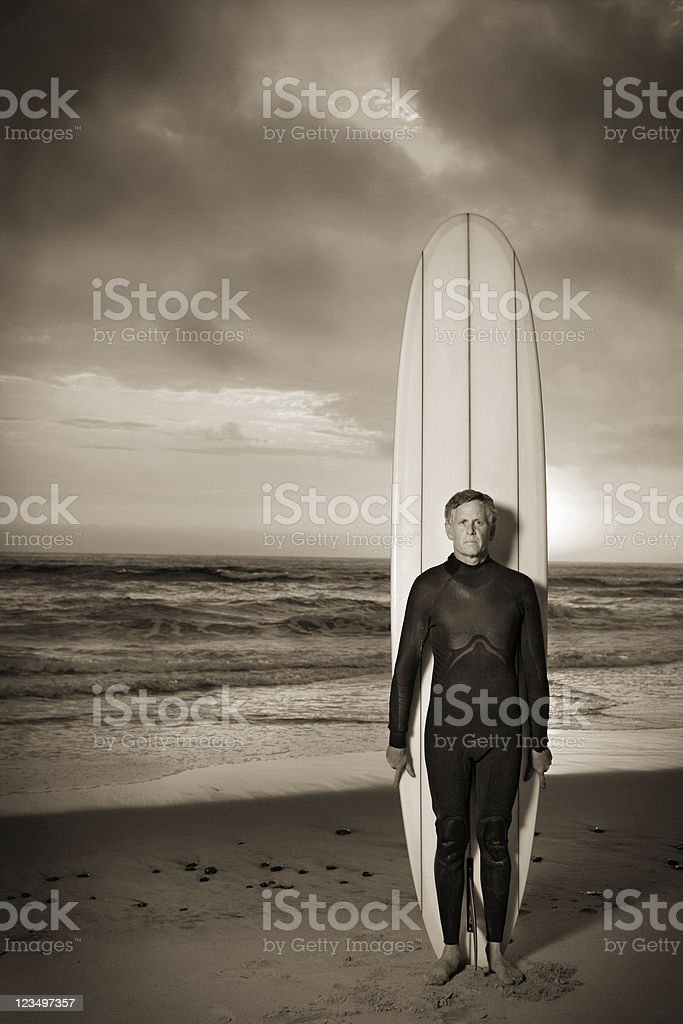 Old School Longboarder royalty-free stock photo