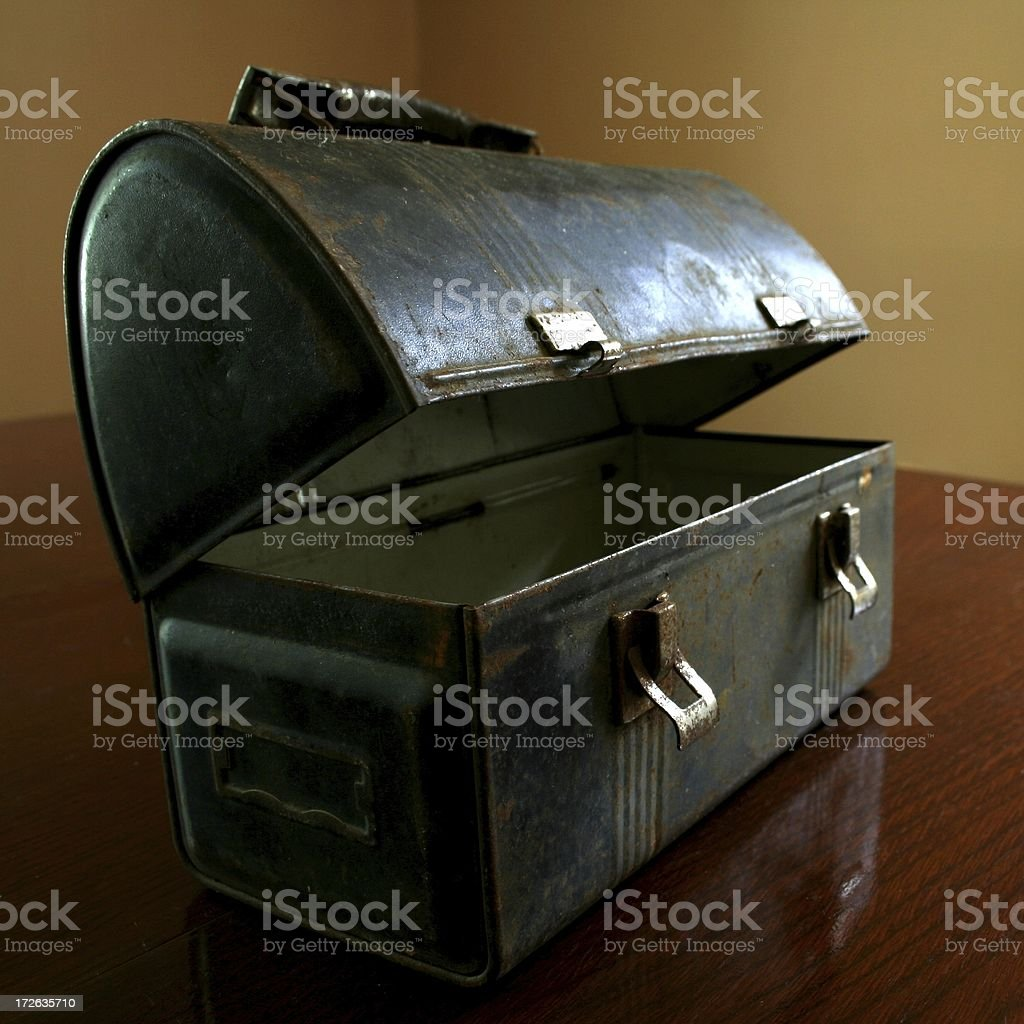Old School LunchBox royalty-free stock photo
