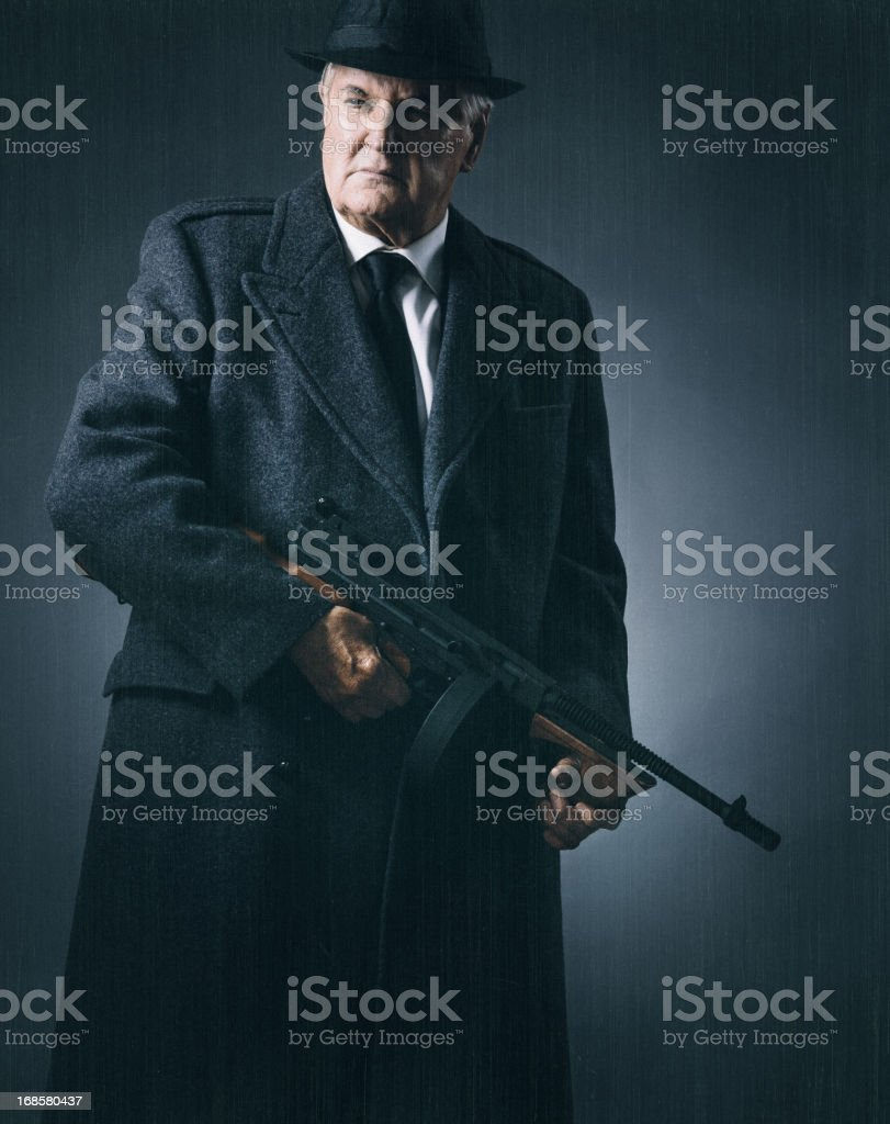 old school mobster royalty-free stock photo