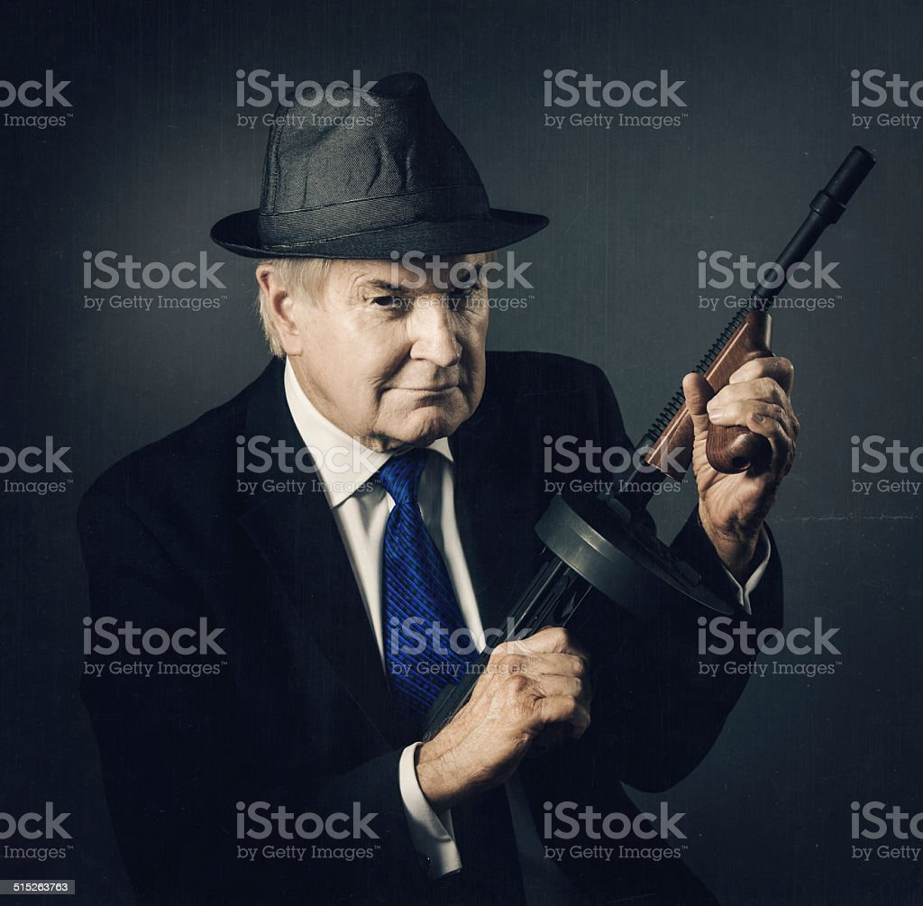 old school mobster stock photo