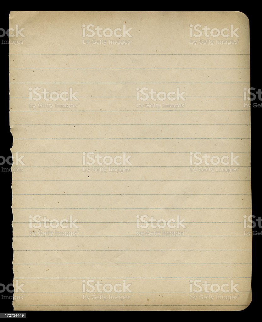 old school notebook page background texture royalty-free stock photo