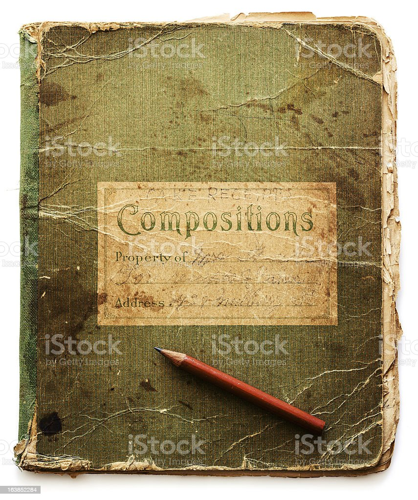 old school notebook royalty-free stock photo