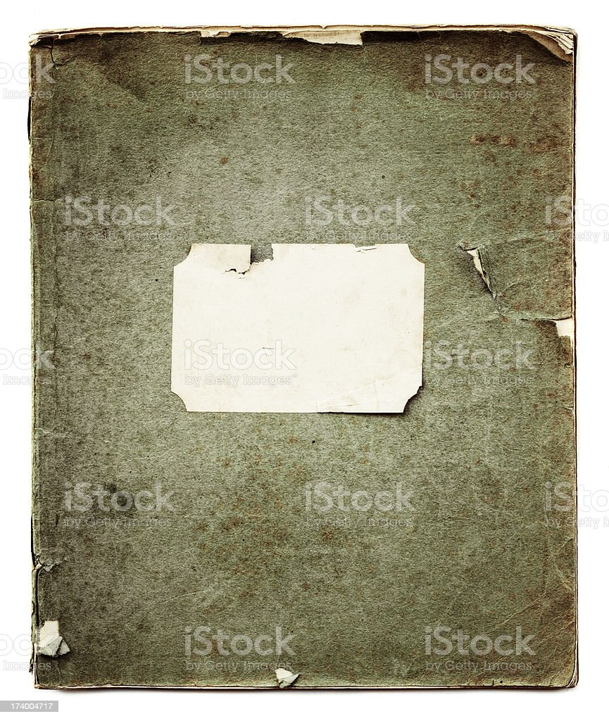 old school notebook stock photo