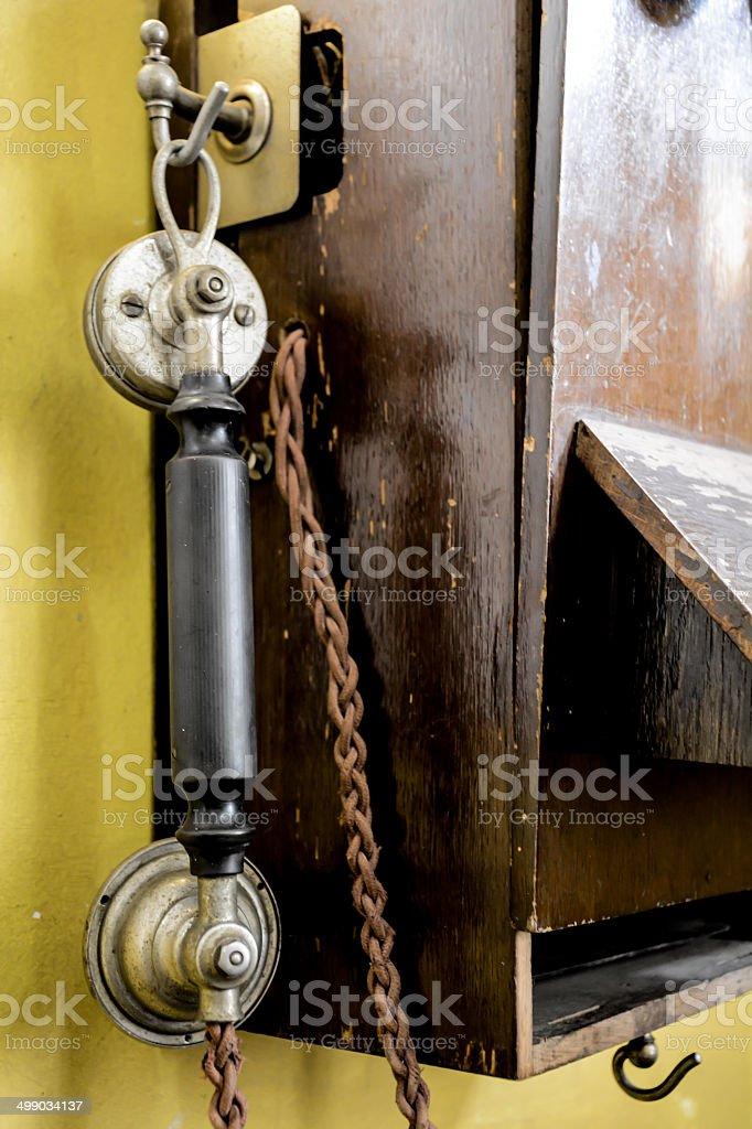 Old School Phone stock photo