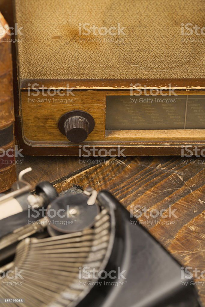 Old school radio royalty-free stock photo