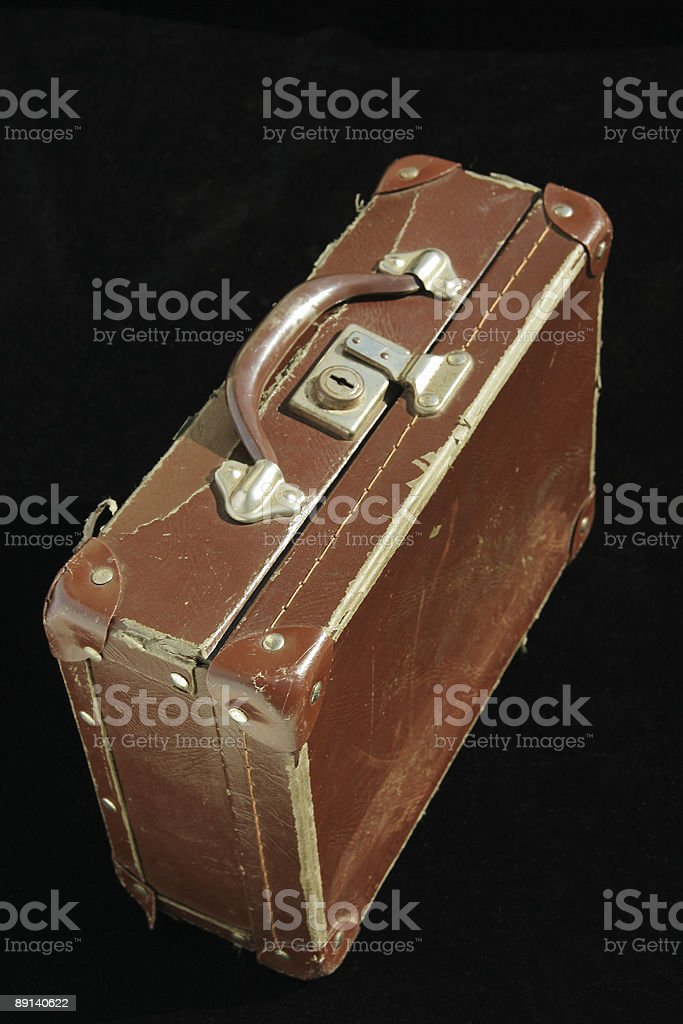 Old School Suitcase two royalty-free stock photo