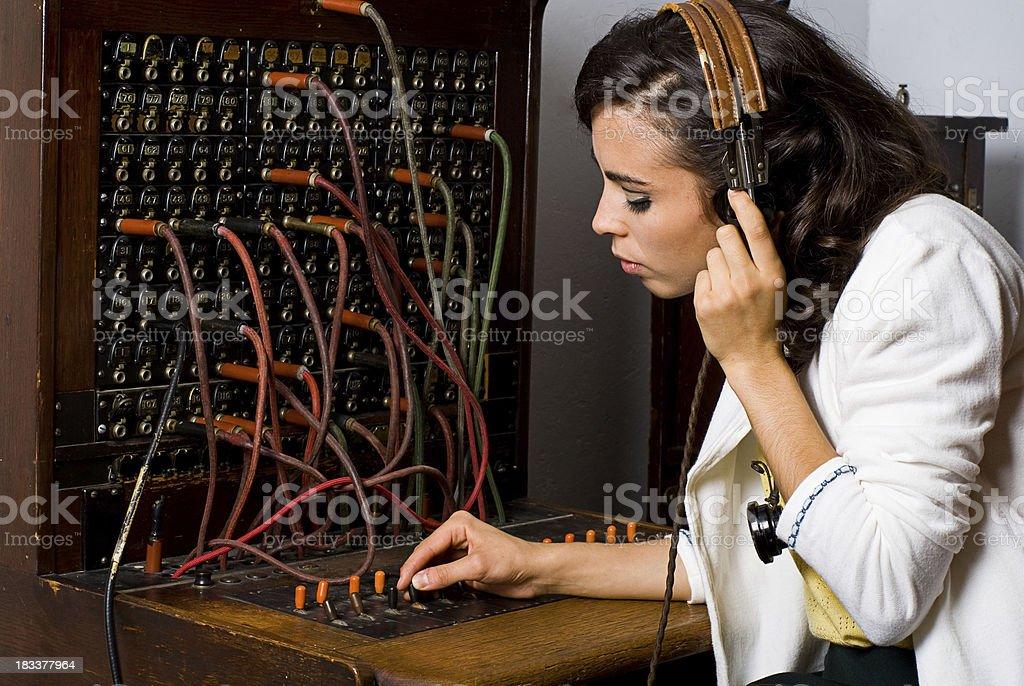 Old School Telephone Operator royalty-free stock photo