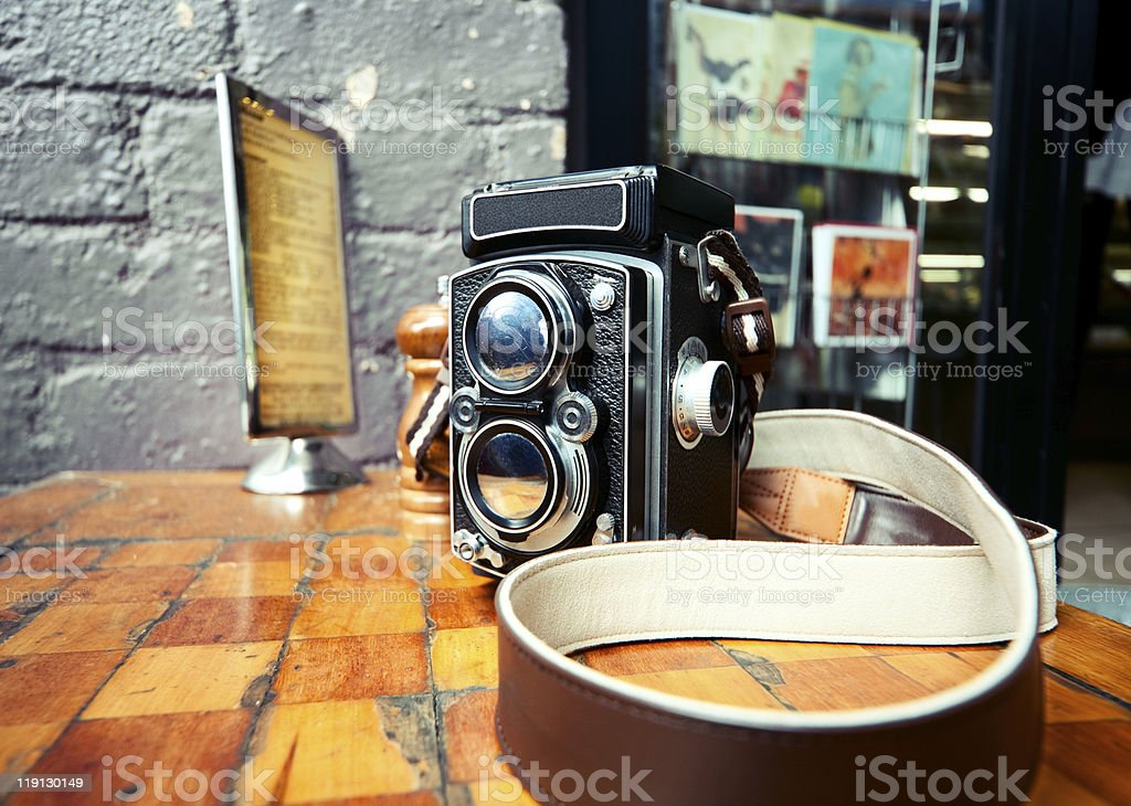 Old School TLR Camera stock photo