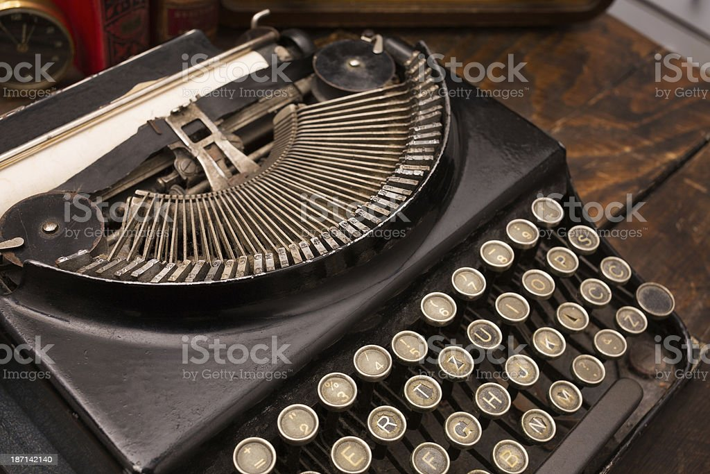 Old school typewriter royalty-free stock photo