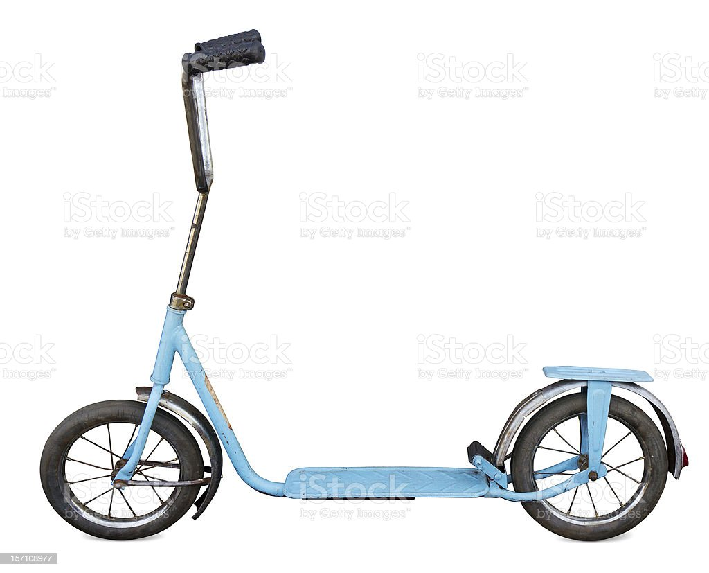 Old scooter stock photo