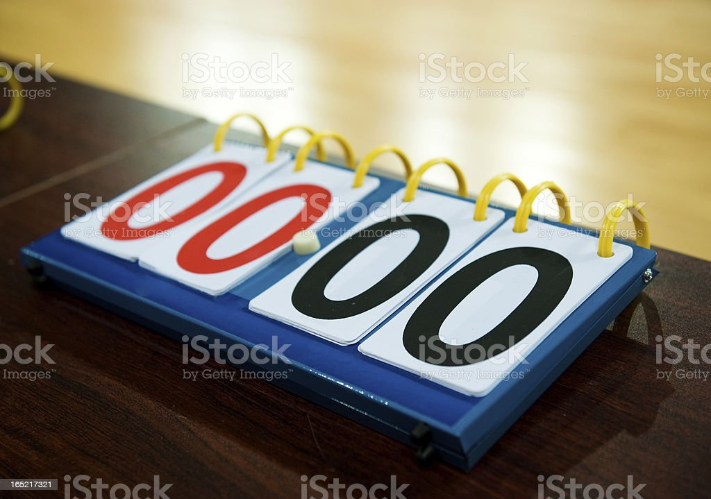 old score board royalty-free stock photo