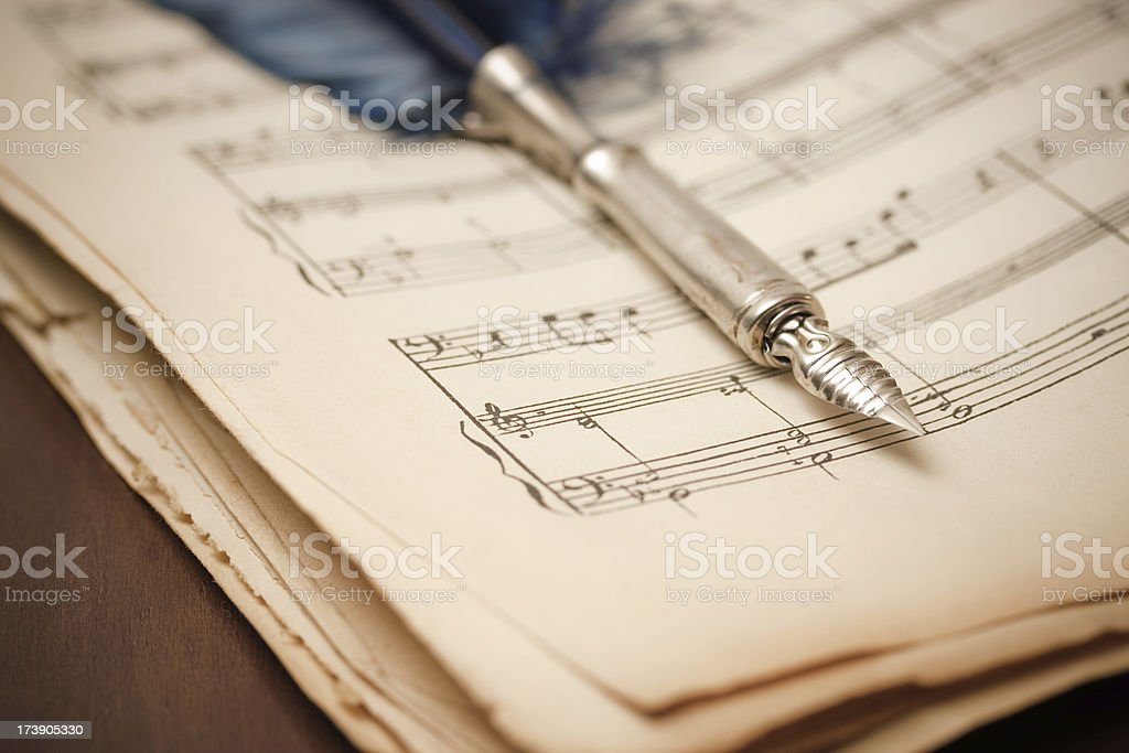 Old score royalty-free stock photo