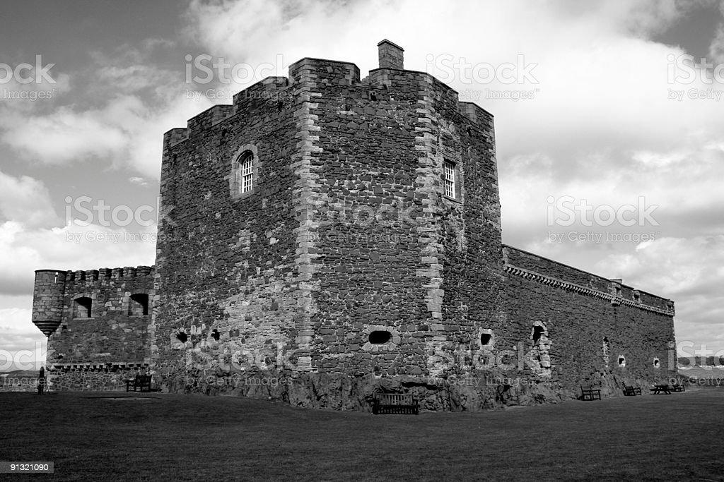 Old Scottish Castle royalty-free stock photo
