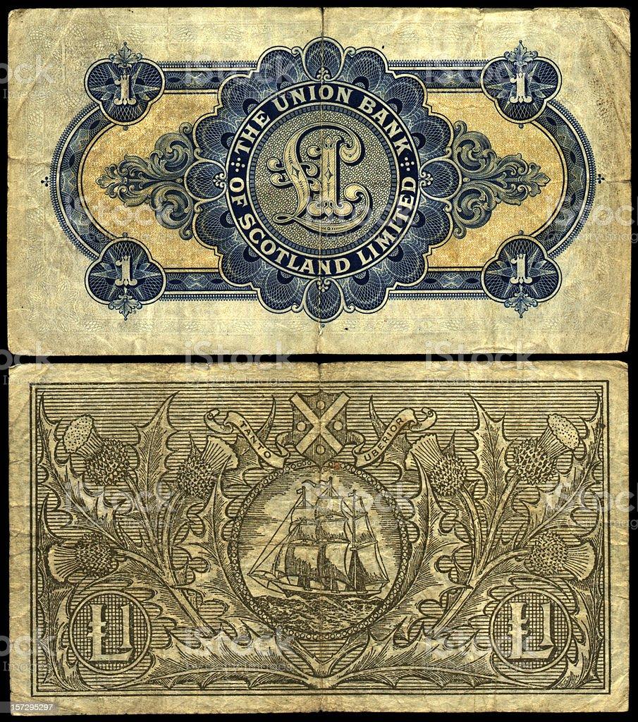 old scottish notes royalty-free stock photo