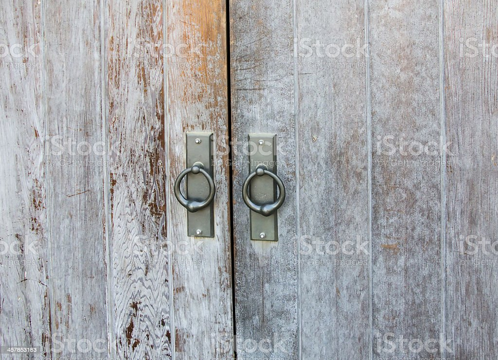 Old Scratched Door royalty-free stock photo
