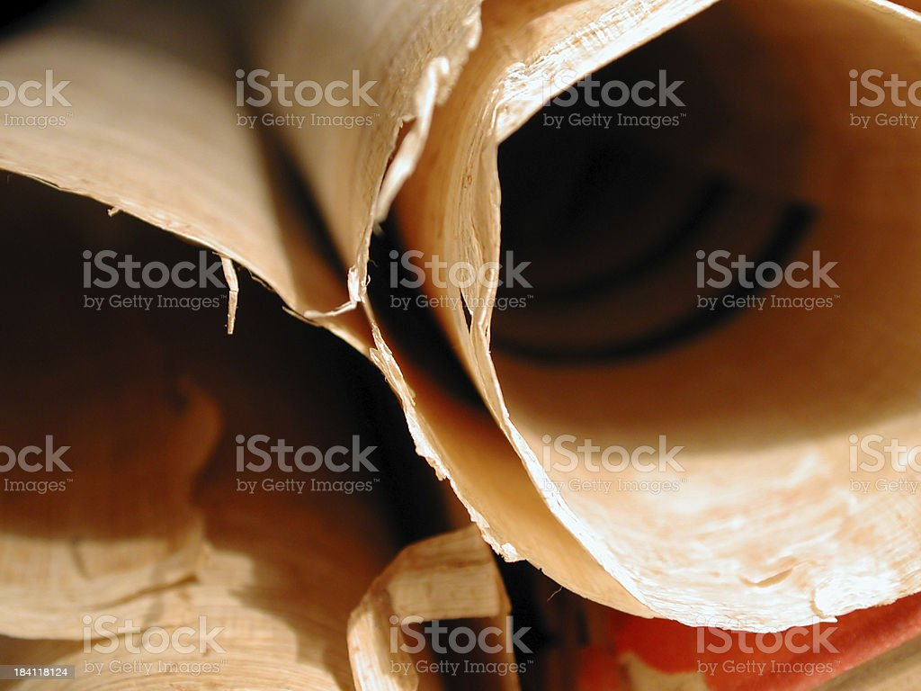 Old scrolls royalty-free stock photo