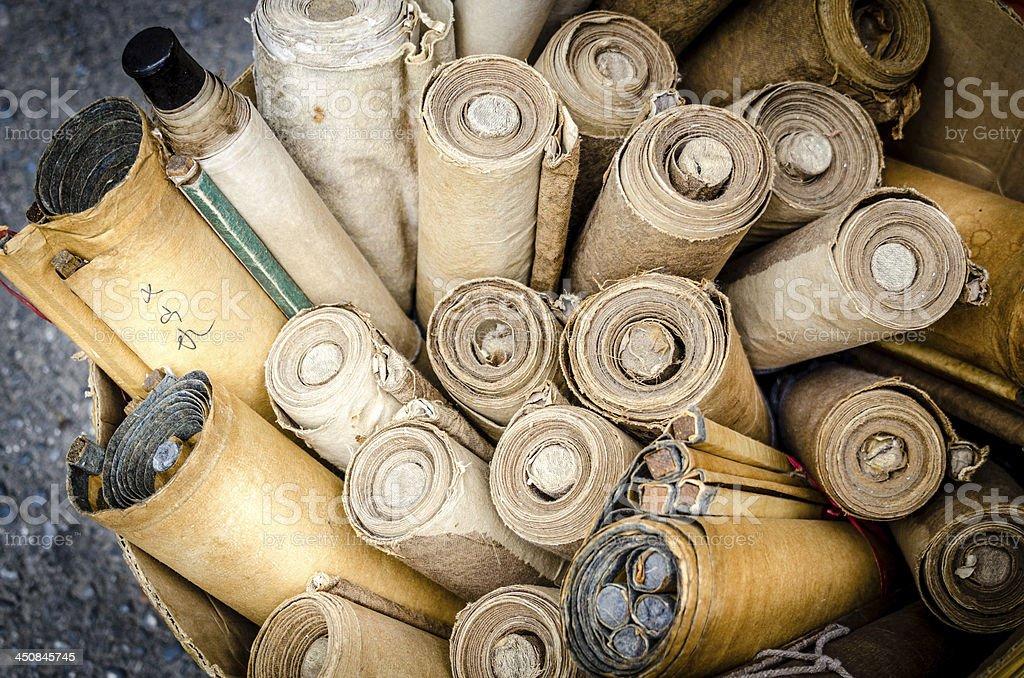 Old Scrolls stock photo