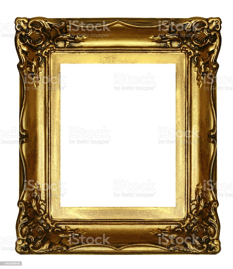 old sculpted golden frame royalty-free stock photo