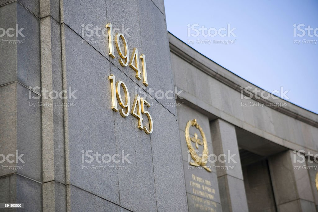 Old Second War Monument royalty-free stock photo