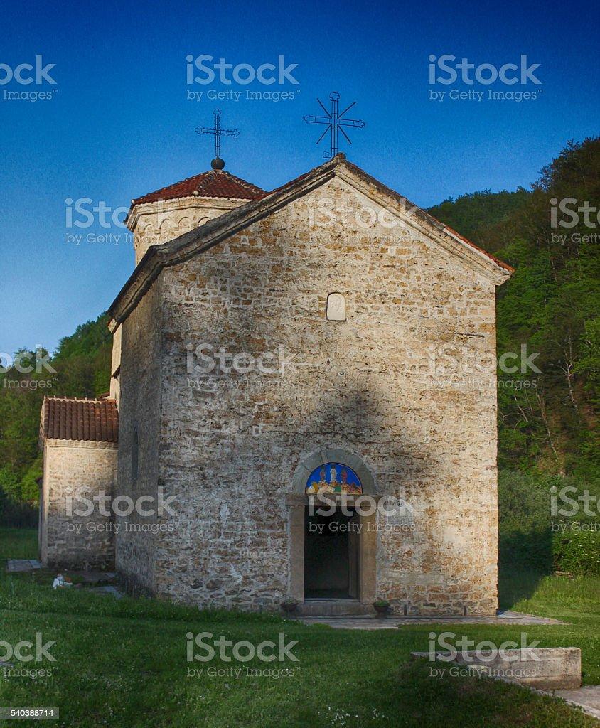 Old Serbian Orthodox Church stock photo