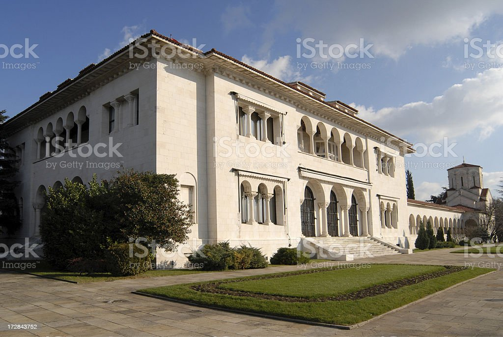 Old Serbian Royal Palace, Dedinje, Belgrade, Serbia stock photo