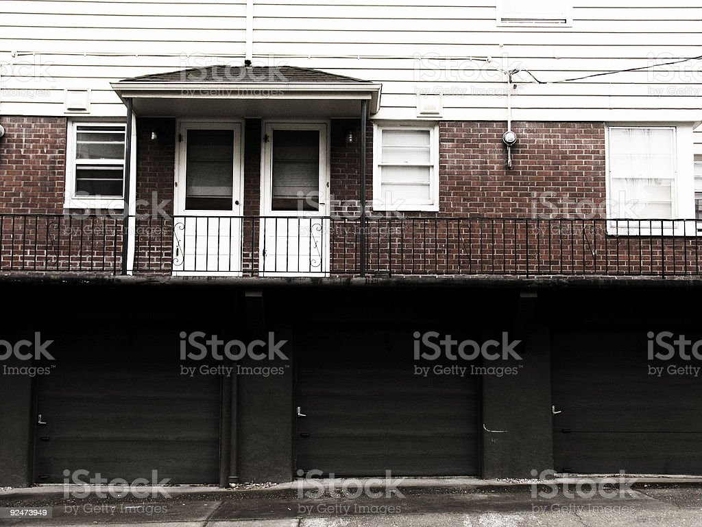 Old Seventies Apartments royalty-free stock photo