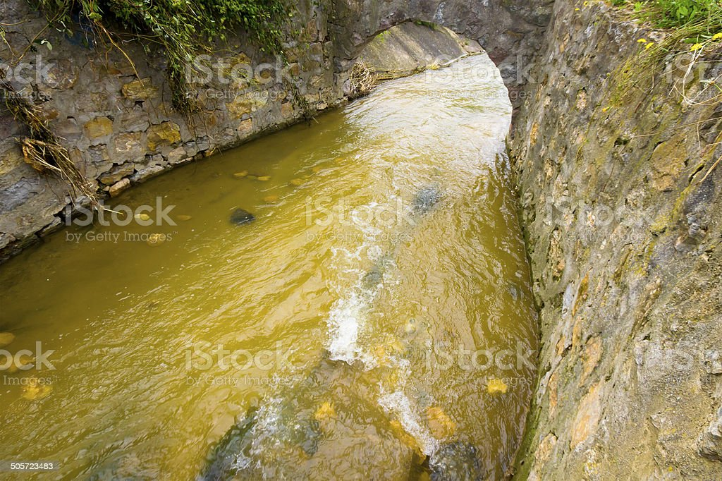 old sewerage stock photo