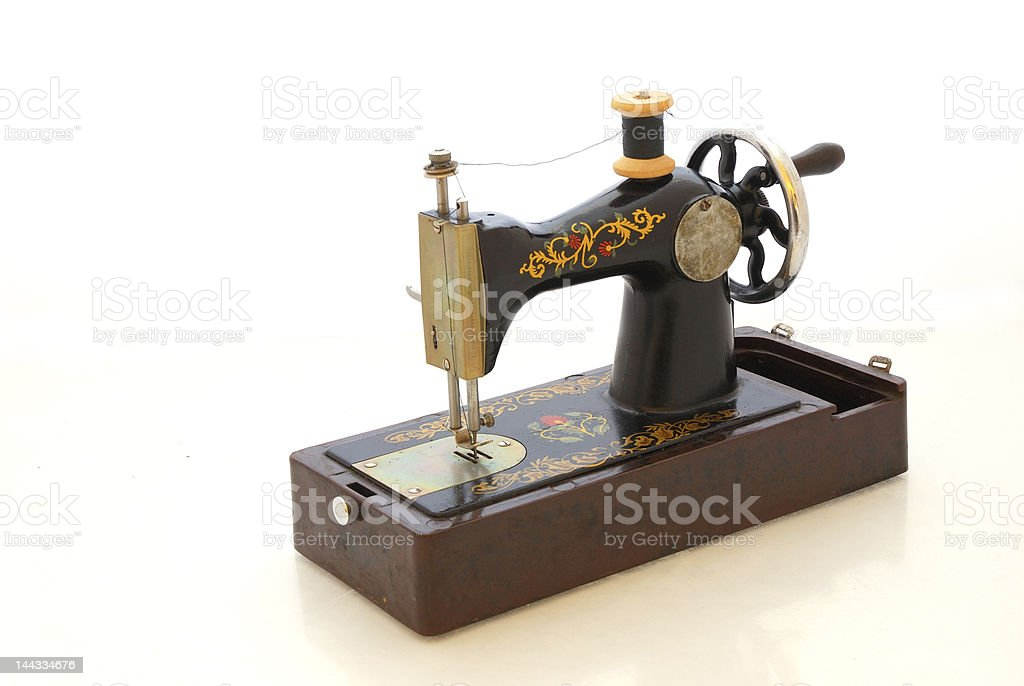 Old sewing machine royalty-free stock photo