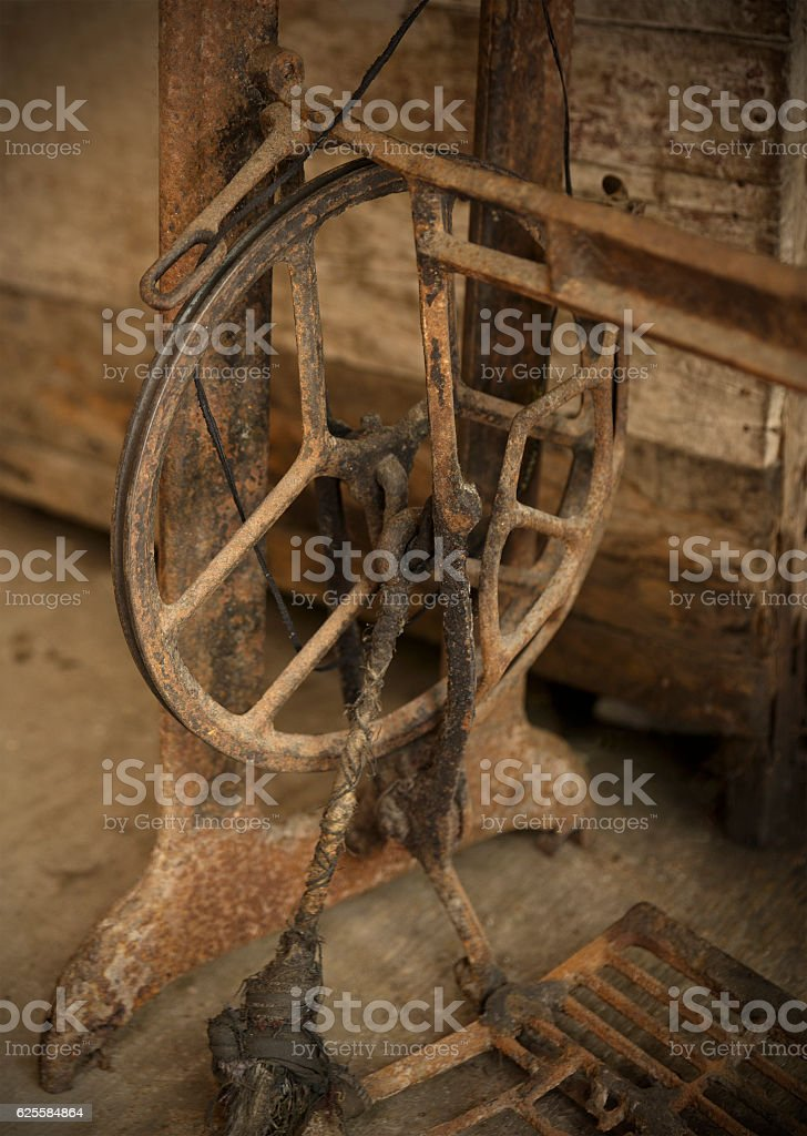 old sewing machine-sipalay stock photo